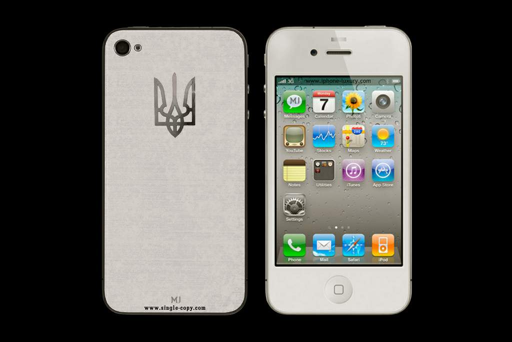 LUXURY APPLE iPHONE IVORY EDITION by MJ