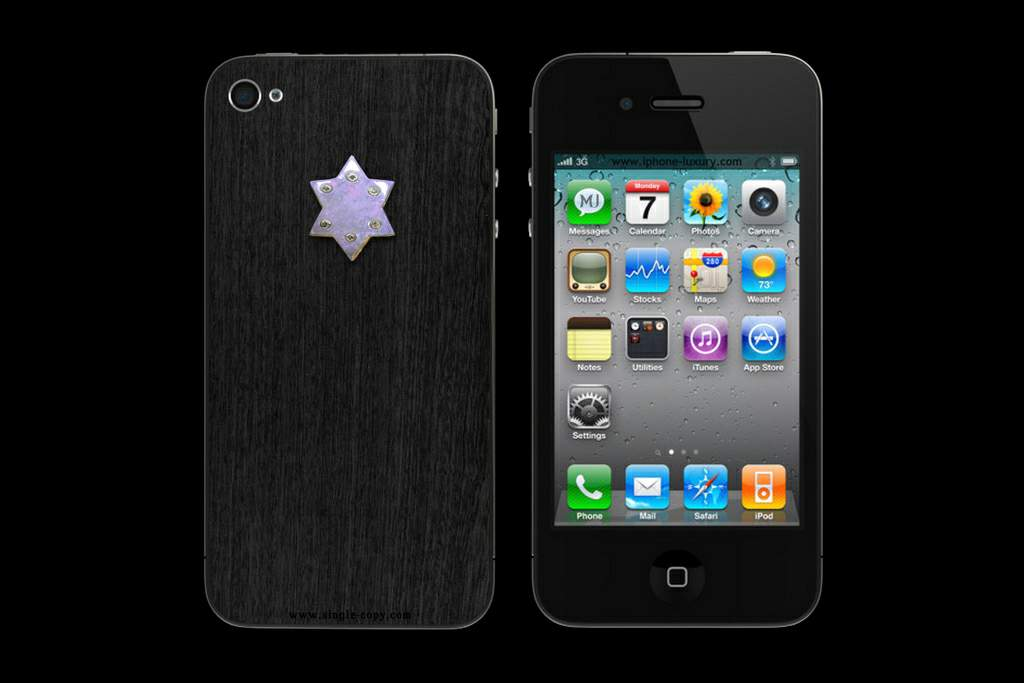 APPLE IPHONE BLACKWOOD DAVID STAR by MJ