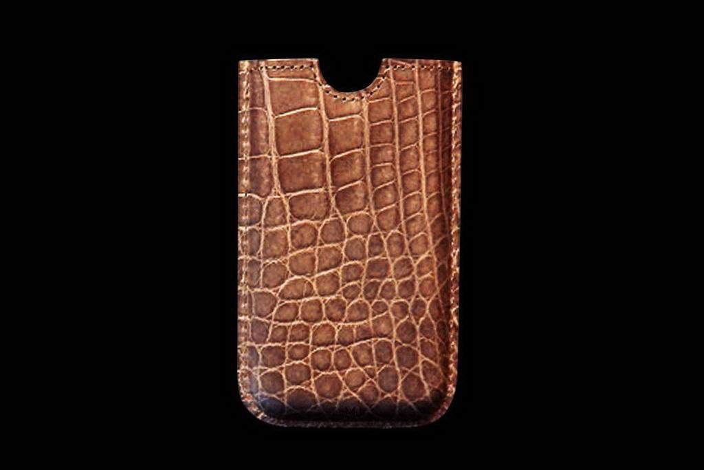 Apple iPhone Luxury Case from Natural Crocodile Leather (Alligator Skin)