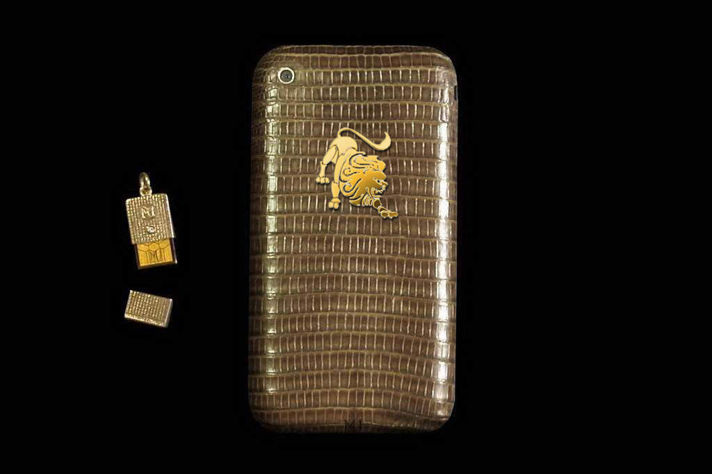 Apple iPhone Diamond Leather Gold 888 Limited Edition with Micro USB Flash Drive