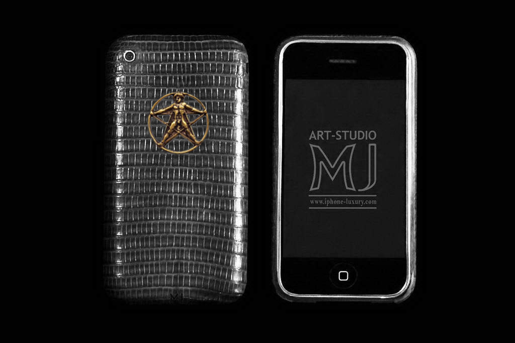 Apple iPhone 3G Gold Leather Silver Palladium MJ Edition