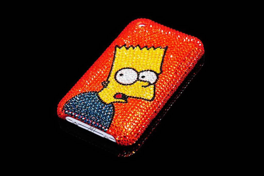 Apple iPhone Mobile Case Crystal Swarovski Limited Edition Simpsons