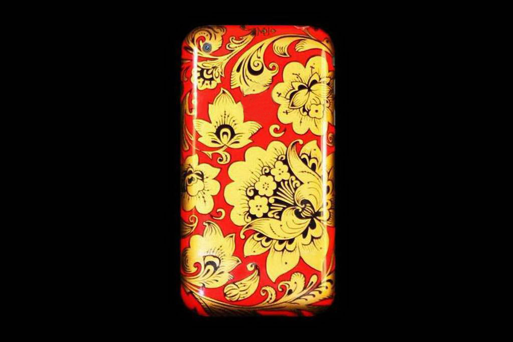 Apple iPhone 3G Russian Hohloma Art Paint Edition, Denis Simachev Style