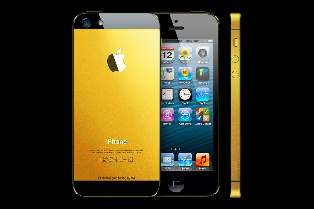 Original Apple IPhone 5 Gold Edition By MJ Luxury Tuning 1024x683 Pixels