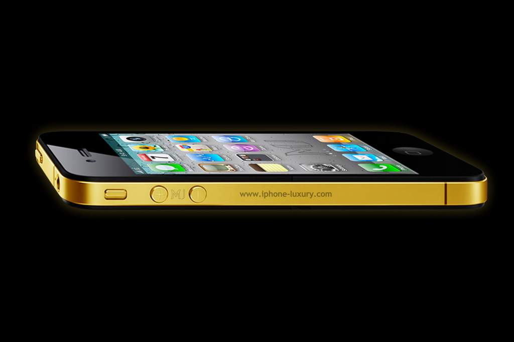Original Apple iPhone 4G - Gold Luxury Edition by MJ - Yellow Gold 777