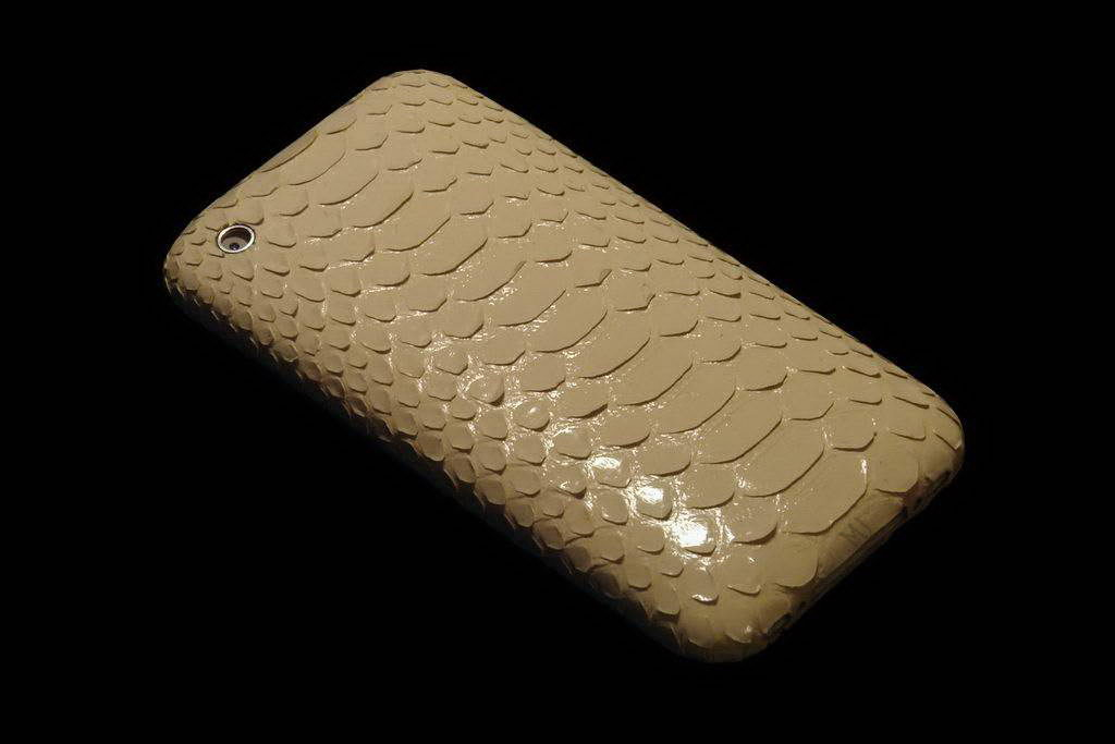 Apple iPhone Exotic Leather Unique VIP Phone - White Soft Snake Skin