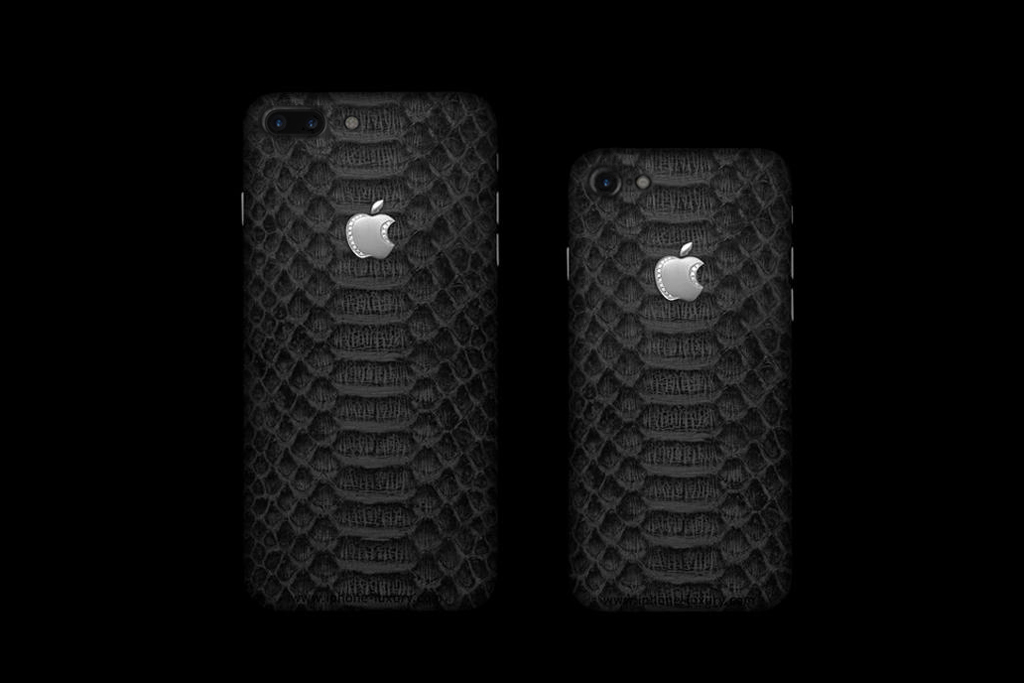Case Design luxury leather mobile phone cases : Black Snakes Apple iPhone 7 Plus u0026 iPhone 7 Customization by MJ ...